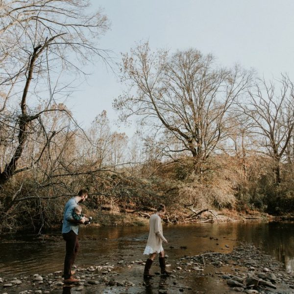 Adventurous Family Session at the River Trail