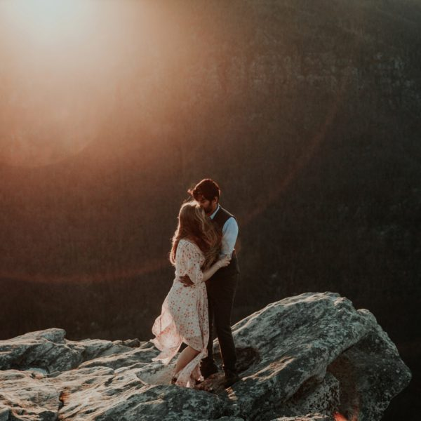 Hawksbill Mountain Adventure Engagement Session